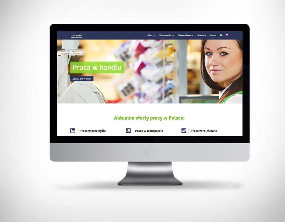 Strona www dla agencji pracy - język ukraiński